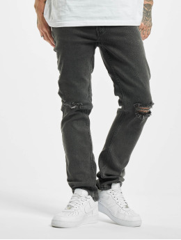 Denim Project Straight Fit Jeans Mr Red Knee grå