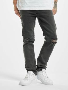 Denim Project Straight Fit Jeans Mr Red Knee grau