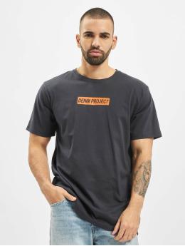 Denim Project T-Shirt Box Logo blau