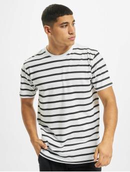 Denim Project T-Shirt Marcos Strip weiß