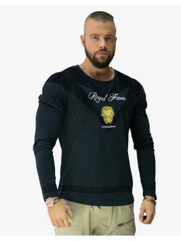 Deus Maximus Camiseta de manga larga Royal Family  negro