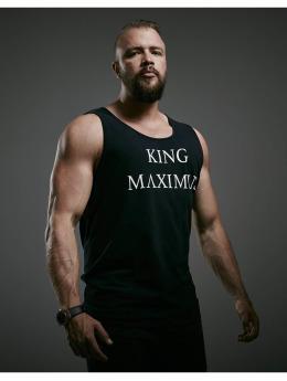 Deus Maximus Tank Tops King  negro