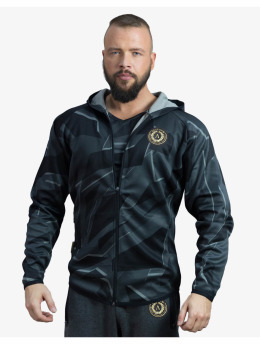 Deus Maximus Trainingsjacken Augustus 2.0 Zipper  grau