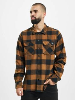 Dickies Рубашка Sacramento Relaxed Long Sleeve коричневый