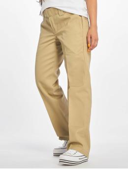 Dickies Látkové kalhoty Slim Strght Work hnědožlutý
