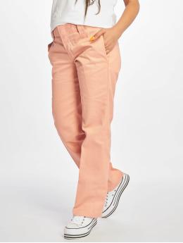 Dickies Látkové kalhoty Slim Strght Work růžový