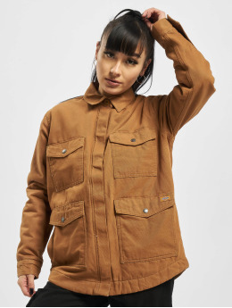 Dickies Lightweight Jacket Duck Sherpa Chore brown