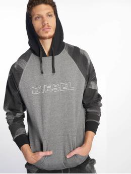 Diesel Bluzy z kapturem UMLT-Brian szary