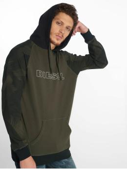 Diesel Hoodies UMLT-Brian olivový