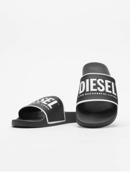 Diesel Slipper/Sandaal Valla zwart
