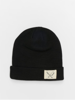 Distorted People Beanie DNA Patched schwarz