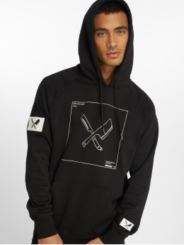 Distorted People Hoodie DNA Framed black