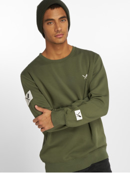 Distorted People Pullover DNA Classic green