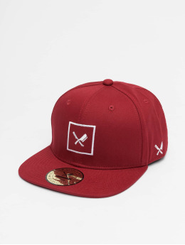 Distorted People Snapback Cap Framed red