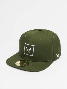 Distorted People Snapback Caps Framed zelený