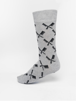 Distorted People Socken Allover Blades grau