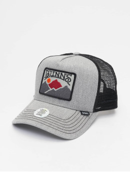 Djinns Casquette Trucker mesh HFT Trek A Patch High Fitted gris