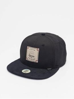Djinns snapback cap 6P Corduroy Nature zwart