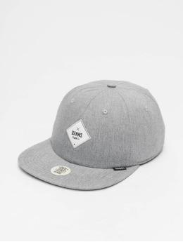 Djinns Snapback Caps 6P Deconstructed Print Diamond grå