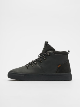 Djinns Sneaker Trek High Fur P-Leather grau