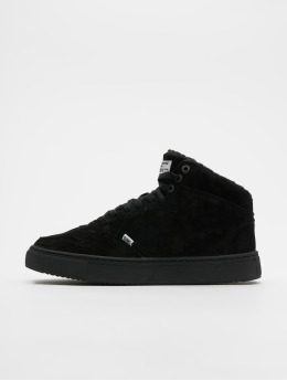 Djinns Sneaker Highwaik Fur nero