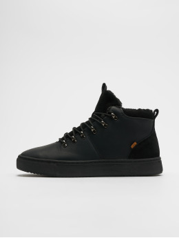 Djinns sneaker Trek High Fur P-Leather zwart