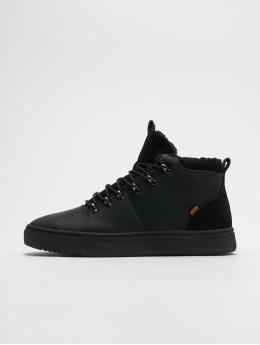 Djinns Sneakers Trek High Fur P-Leather èierna