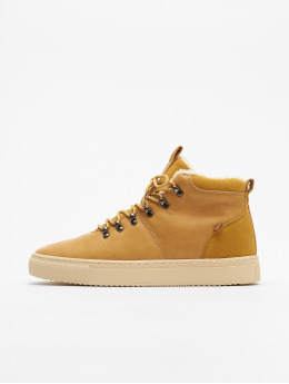 Djinns Sneakers Trek High Fur P-Leather beige