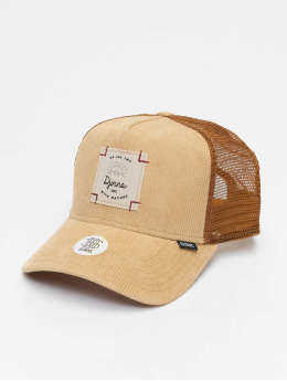 Djinns Trucker Caps HFT Corduroy Nature hnědý