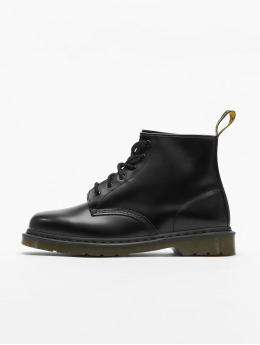 Dr. Martens | 101 PW 6-Eye Smooth Leather Police noir Homme,Femme Chaussures montantes
