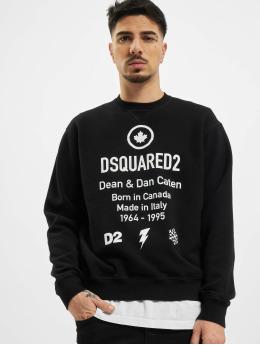 Dsquared2 Пуловер Leaf черный