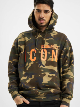 Dsquared2 Bluzy z kapturem Camouflage Icon Hooded moro