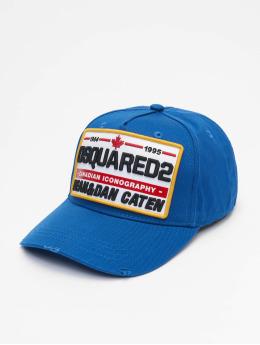Dsquared2 Snapback Cap Canadian Iconography blu