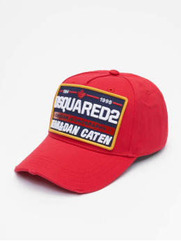 Dsquared2 Snapback Caps Canadian Iconography  červený