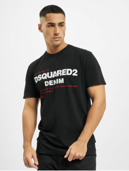 Dsquared2 T-Shirty Denim czarny