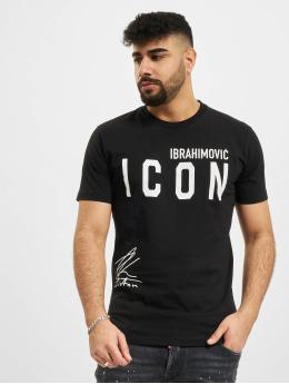 Dsquared2 T-Shirty Icon Ibra czarny