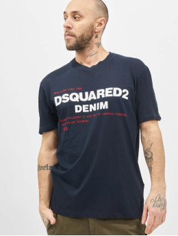 Dsquared2 T-Shirty Denim niebieski