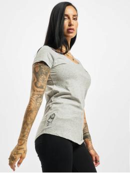 Eight2Nine t-shirt Lazy  grijs