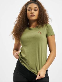 Eight2Nine T-Shirty Animal  oliwkowy