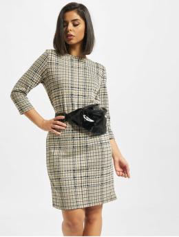 Eight2Nine Vestido Midi Dress Check marrón
