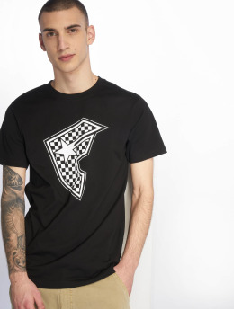 Famous Stars and Straps T-paidat Checker Badge musta
