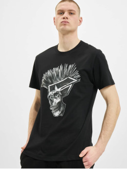 Famous Stars and Straps T-Shirt Punks Not Dead schwarz