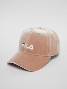 FILA Frauen Snapback Cap Line Panel Velvet in rosa