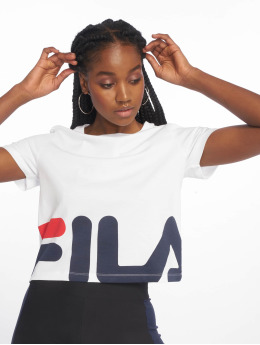 FILA T-Shirty Early Croped bialy