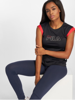 FILA T-Shirty Power Line Pasha czarny