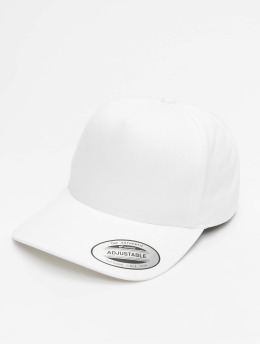 Flexfit Casquette Snapback & Strapback 5-Panel Curved Classic blanc