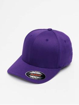 Flexfit Gorras Flexfitted Wooly Combed púrpura