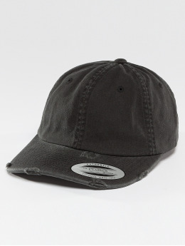 Flexfit Snapback Cap Low Profile Destroyed schwarz