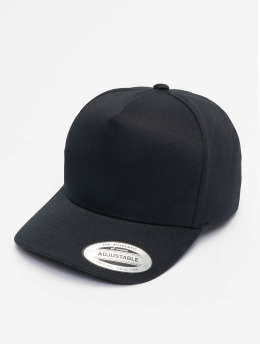 Flexfit Snapback Caps 5-Panel Curved Classic čern