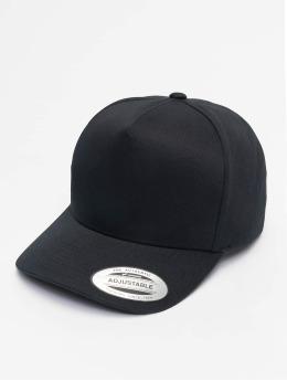 Flexfit Snapback Caps 5-Panel Curved Classic czarny